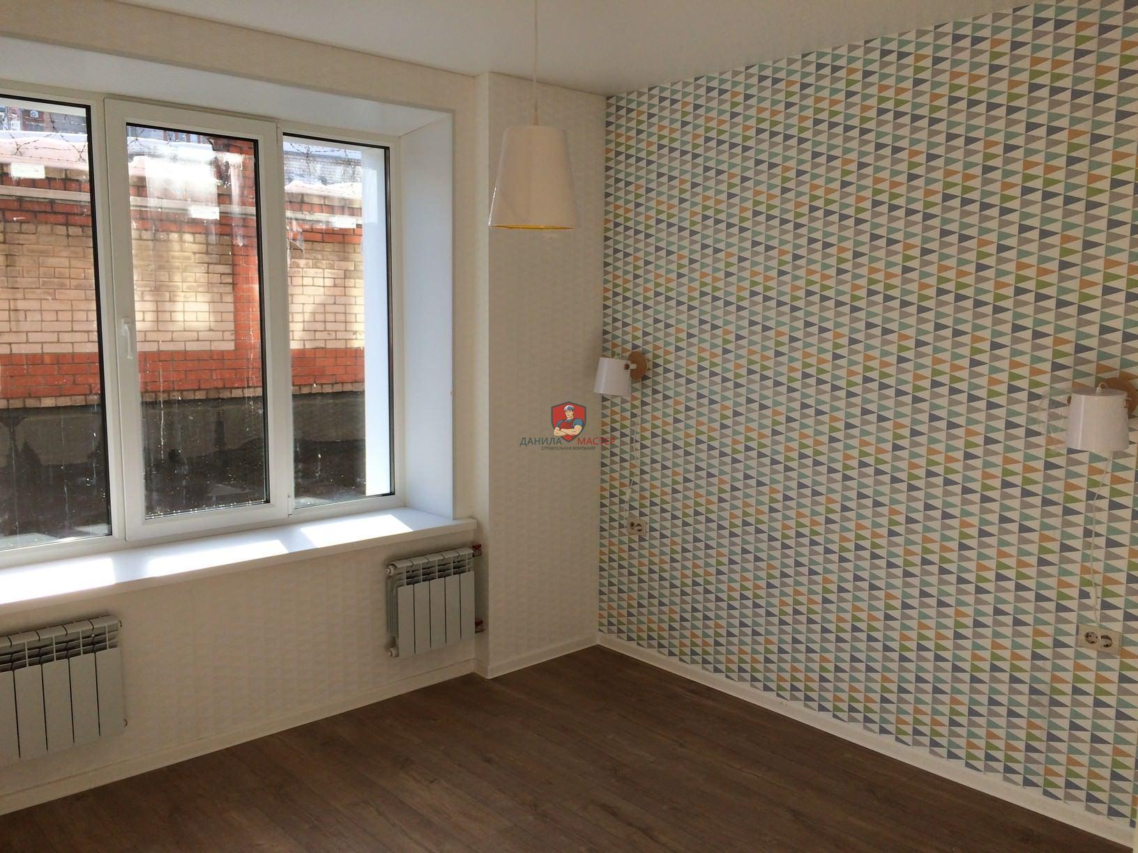 Ремонт однокомнатной квартиры под ключ по адресу: г. Киров, ул. Молодой гвардии