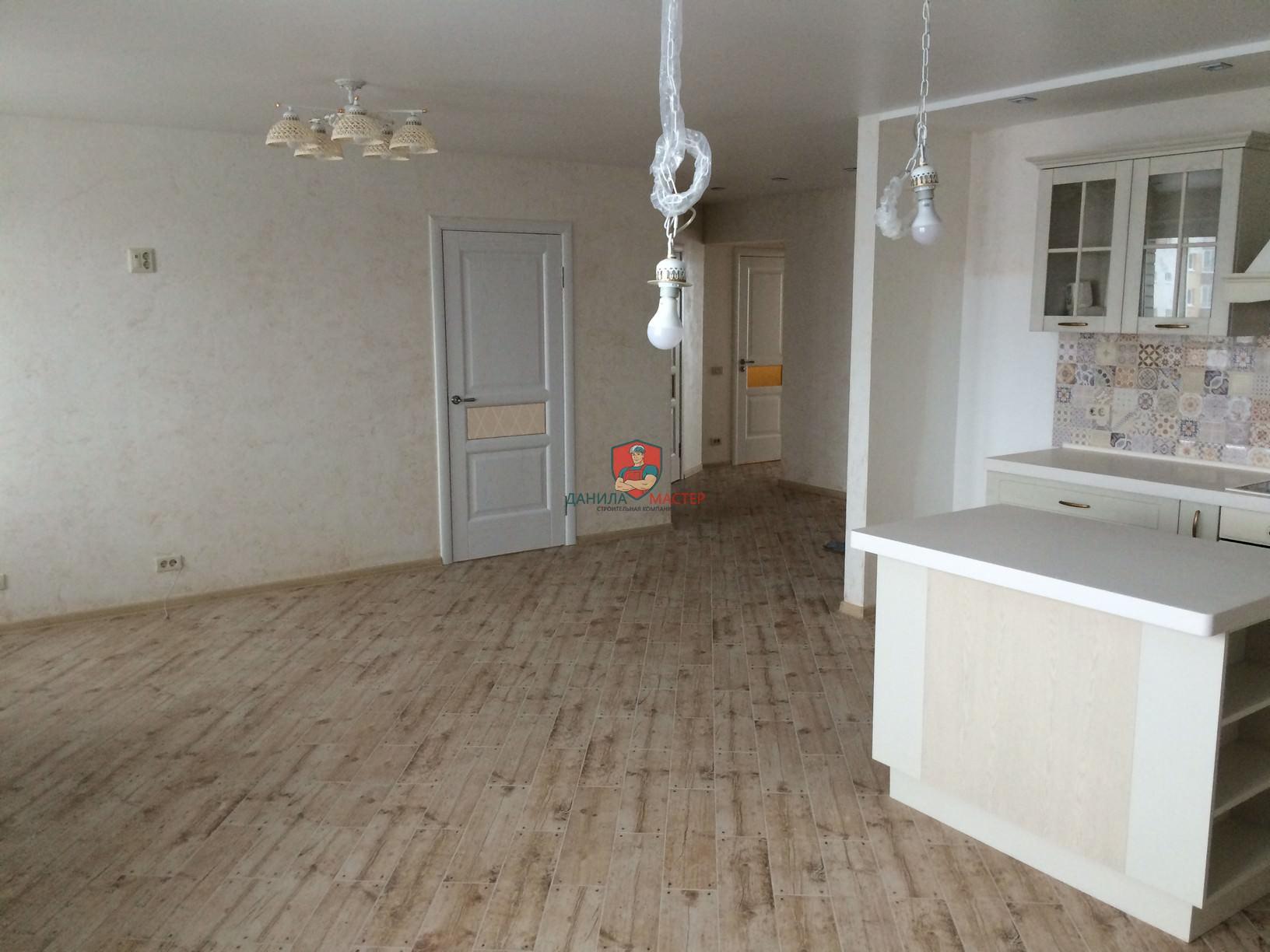 Ремонт трехкомнатной квартиры под ключ по адресу: г. Киров, ул. Солнечная, 55