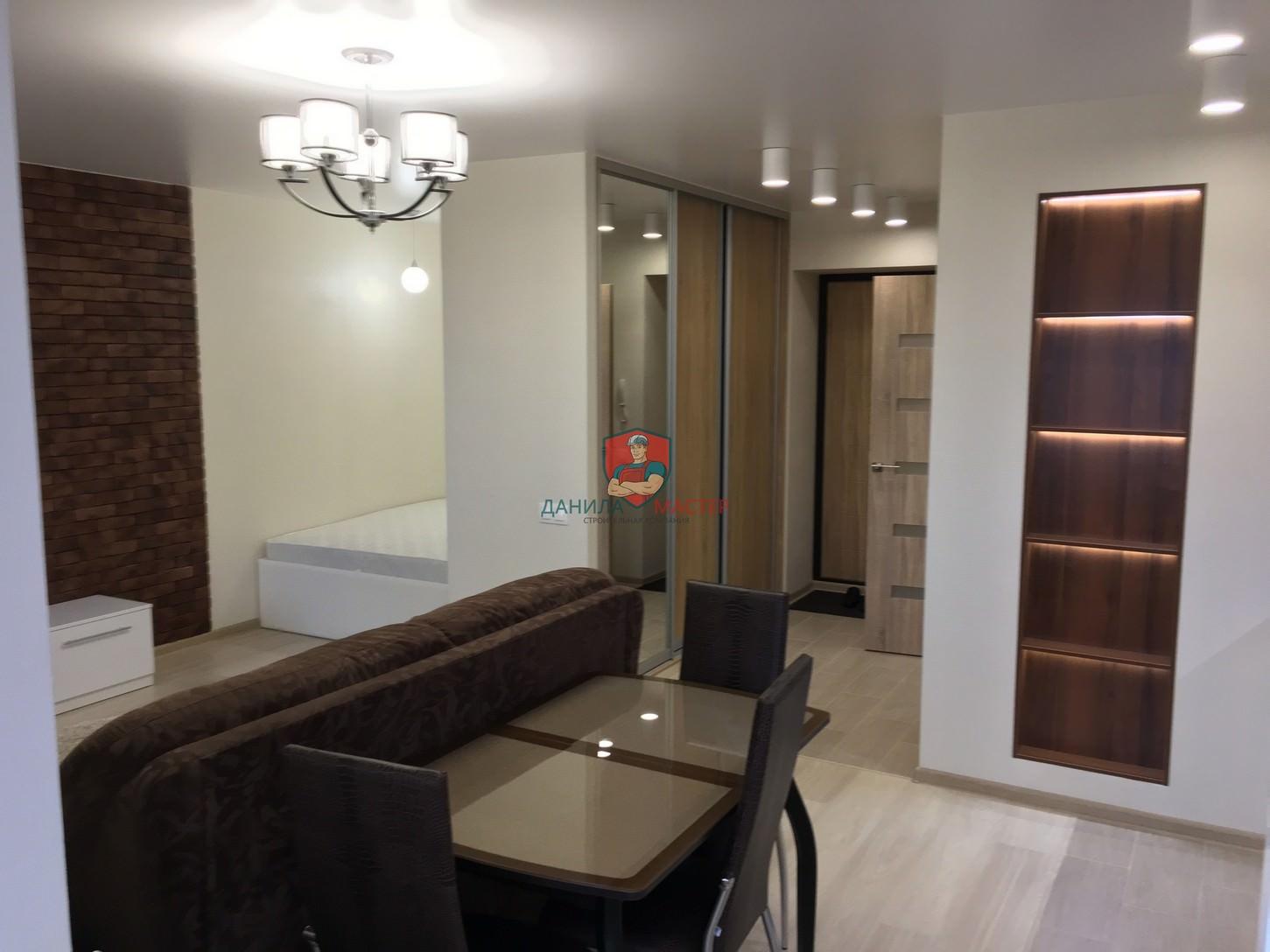 Ремонт однокомнатной квартиры под ключ по адресу: г. Киров, ул. Сурикова, 37