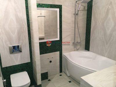 Ремонт ванной комнаты и санузла в трехкомнатной квартире площадью 100м2 под ключ в Кирове по адресу: ул. Героя Костина, 2.